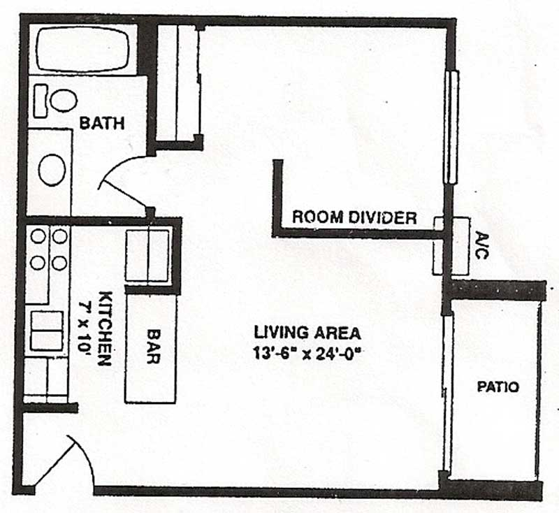 500 sqft studio apartment floor plan latest for Studio apartment square footage